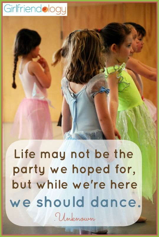 Life may not be the party we hoped for, but while we're here we should dance. – Unknown DANCE!!! #quote http://girlfriendology.com/10263/5-ideas-for-girlfriend-holiday-parties-let-the-friendly-festivities-begin/