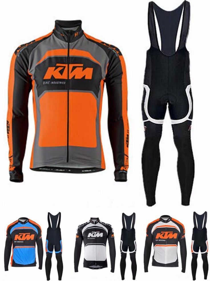 [Visit to Buy] Pro team Ktm Cycling long set Jerseys Ropa Ciclismo maillot/Autumn Bicycle clothing mens Bicycle clothing bike clothes Hot sales #Advertisement