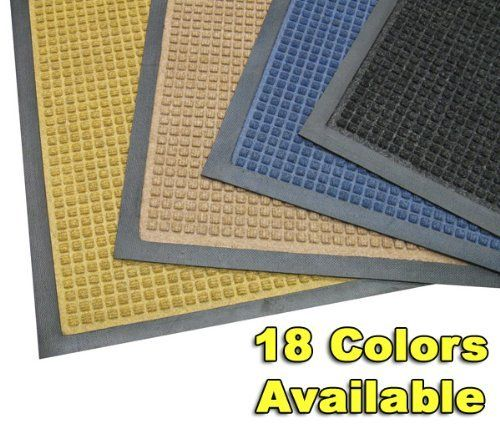"""Waterhog Classic Entrance Mats 3' x 5' by American Floor Mats - Waterhog Mats. $62.02. Waterhog Classic Mats are the most popular entrance mats in the industry. Due to their raised square or """"waffle"""" like pattern, these entrance floor mats are very aggressive in scraping shoes clean of dirt, debris and water. The Waterhog mat also features a water dam border that can hold up to 1.5 gallons/square yard of water.  Waterhog mats are available with either a heavy-du..."""
