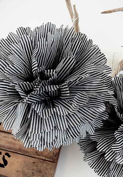 I never thought to do a patterned pompom