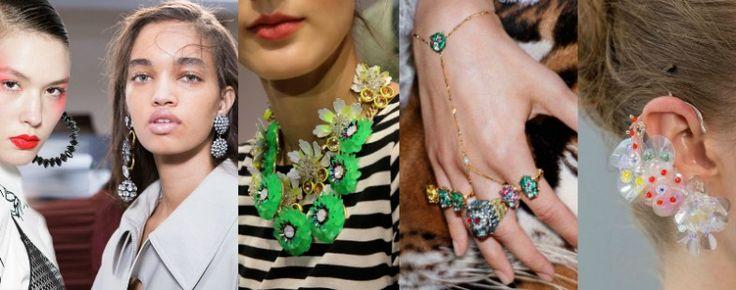 Materiais de joias para a Primavera de 2017: estilo retrô, estouro de pérolas, prata e ouro rosa - Tendências de Jóias