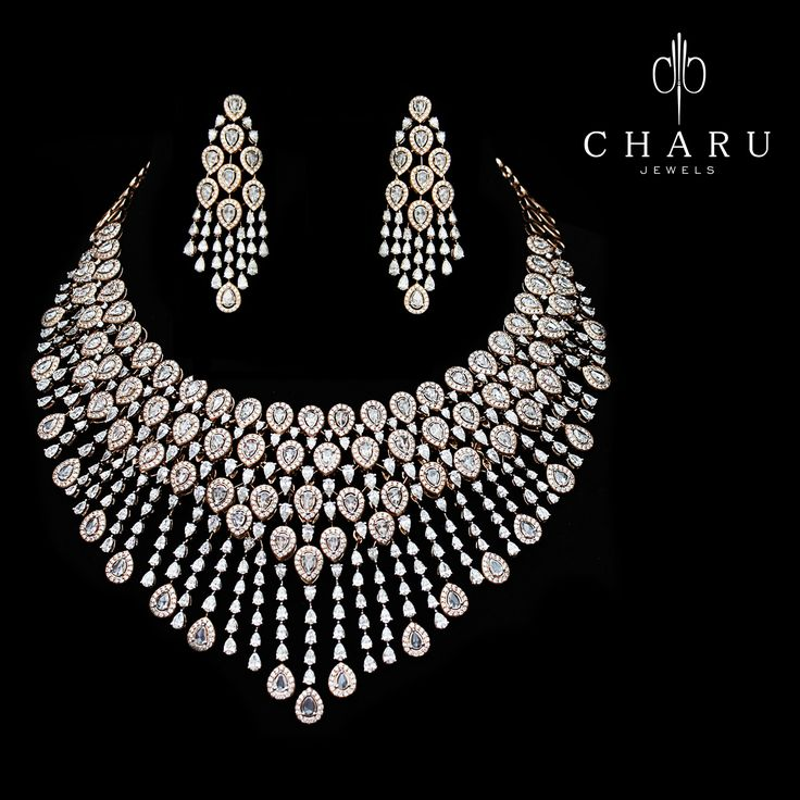 Traditional India Diamond jewellery for Marriage by Charu Jewels (=)