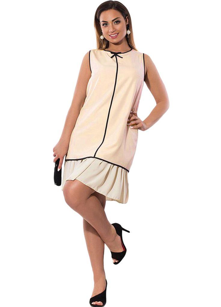 Elegant Women Sleeveless Pleated Hem Plus Size Dress_Plus size Dress_Plus size Clothing_Sexy Lingeire | Cheap Plus Size Lingerie At Wholesale Price | Feelovely.com