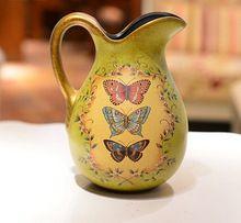 País de américa pastoral creativa moda adornos florero de cerámica botella recompensa decoración casera pintada(China (Mainland))