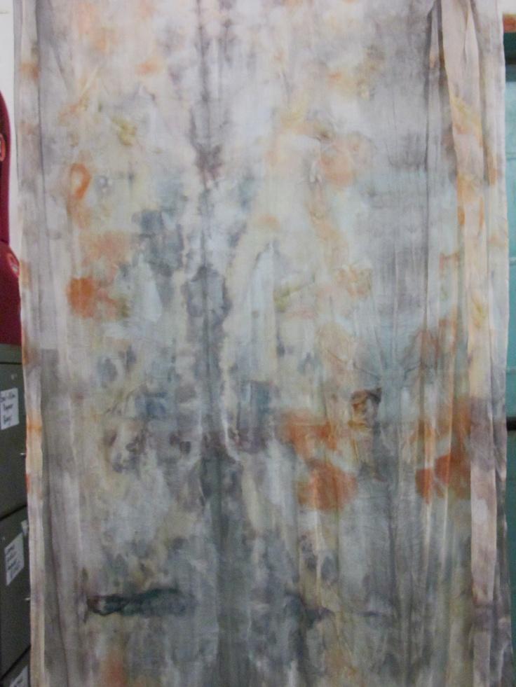 my tissue silk. Created by Susan Fell McLean Gondwana Textiles Australia