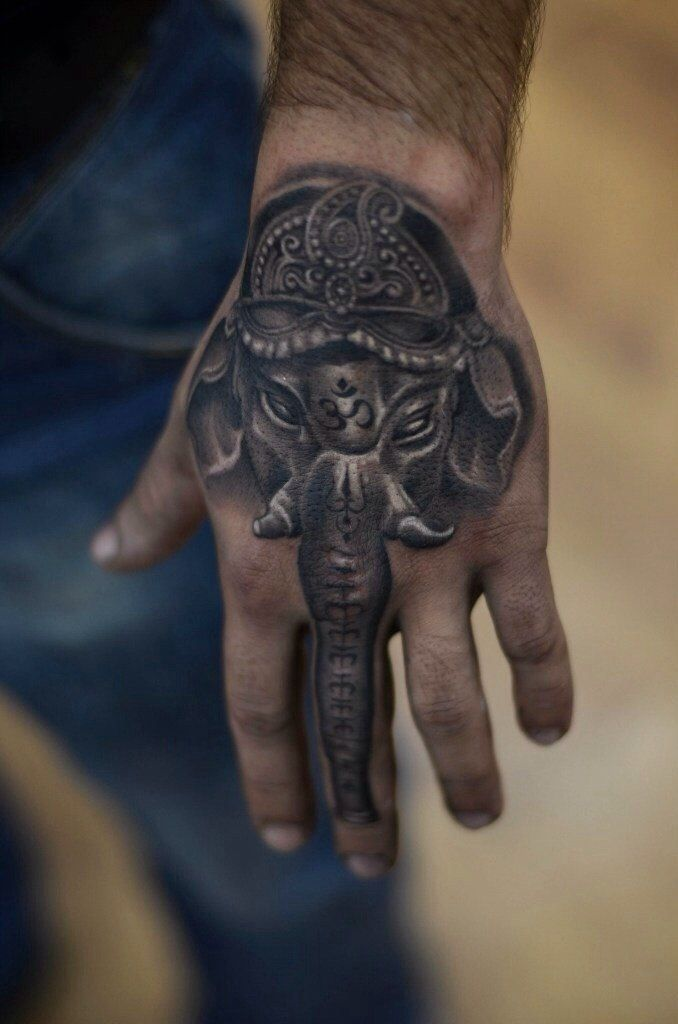 Ganesha by Oleg Kolomiets at Kolomiets Tattoo in Sievierodonetsk, UA