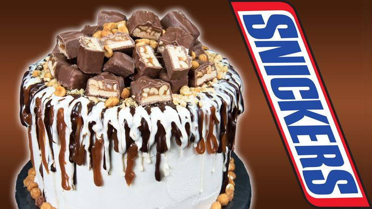 Snickers Candy Bar Cake  from Cookies Cupcakes and Cardio