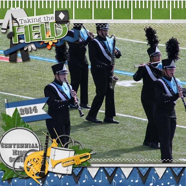 Credits marching band kit by connie prince and touchdown by lissykay designs gingerscraps is a fun and welcoming digital scrapbooking community