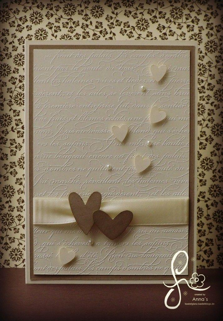 Wunderschöne schlichte Hochzeitskarte