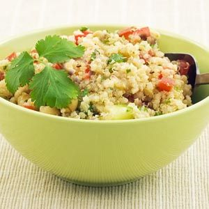 Basil Quinoa with Red Bell Pepper from @WebMD