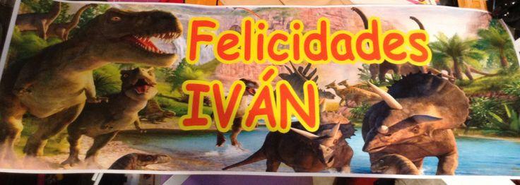 Dinosaurios artículos de fiesta banner personalizado