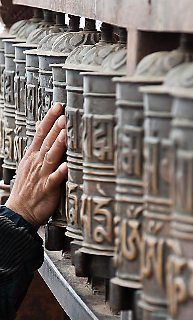 Prayer Wheels, Swayambhunath Stupa, Kathmandu, Nepal by jrodmanjr - Jason Rodman