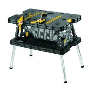 Keter, 21.65 in. x 33.46 in. x 29.7 in. Folding Work Table, 197283 at The Home Depot - Mobile
