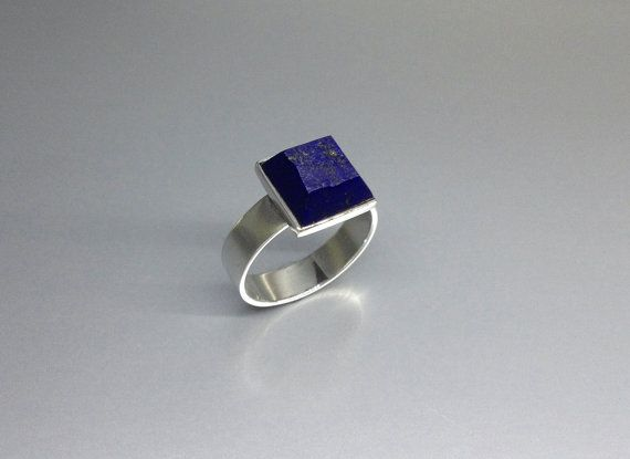 A masterpiece of raw stone / high polished Lapis Lazuli ring set in Sterling silver. by lapislazulisamos. Explore more products on http://lapislazulisamos.etsy.com