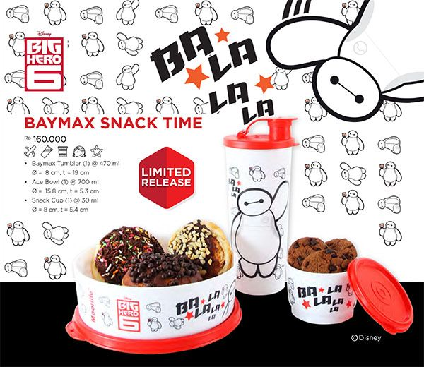 NEW!!! Moorlife Baymax Snack time set