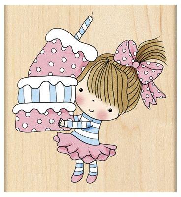 Cupcake Mimi - Rubber Stamp