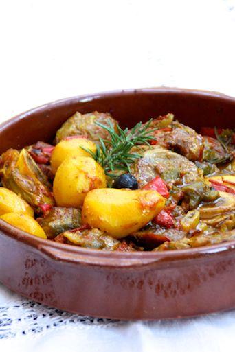 Sauté de veau estival : citron confit, olives, poivrons | Ligne & Papilles