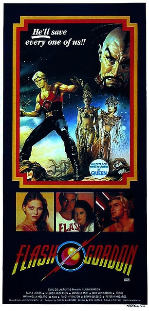 Flash Gordon-Sam J. Jones can not act. But god I love this movie!