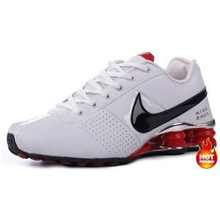 mens nike shox deliver gold red