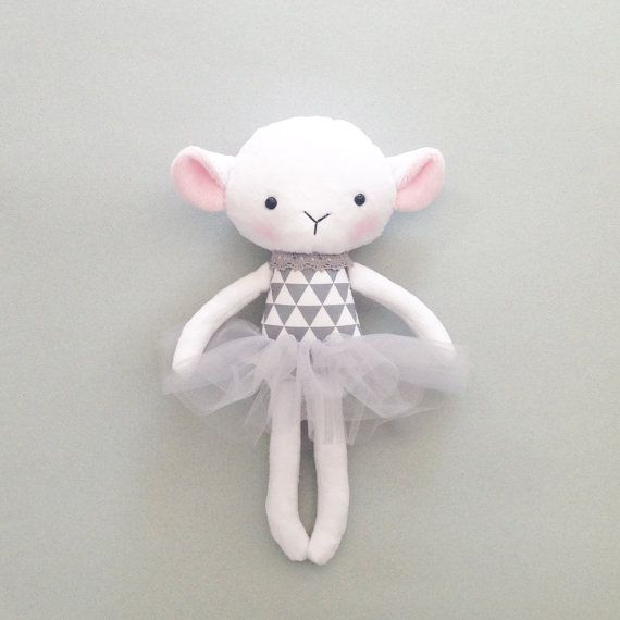 Lamb doll  Rag doll  Handmade lamb doll  Stuffed by CreepyandCute