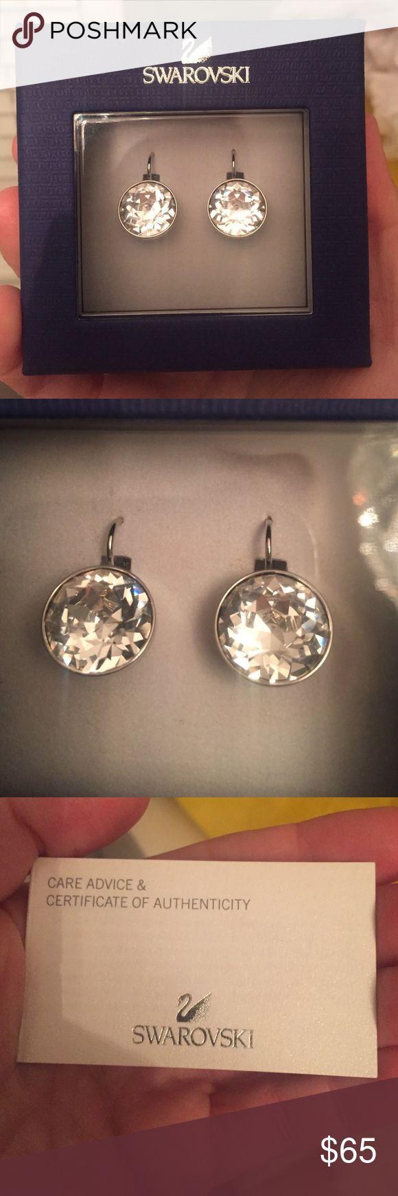 Swarovski Bella pierced earring Beautiful Swarovski crystal earrings new with box Swarovski Jewelry Earrings