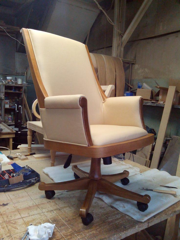офисное кресло (дуб,кожа)