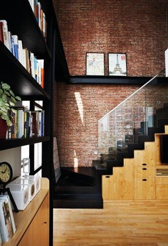 Exposed Brick And Hardwood Interior Pinterest