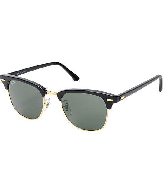 f9d68f7023 Ray-Ban Clubmaster Black   Gold Sunglasses