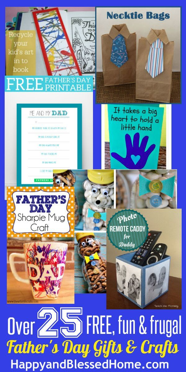 Ultimate List of Fathers Day Gifts and Crafts - Over 25 FREE, Fun or Frugal gift ideas
