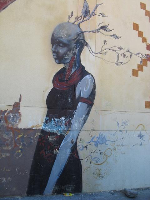 Cape Town, South Africa. Street art - De Roos Street.
