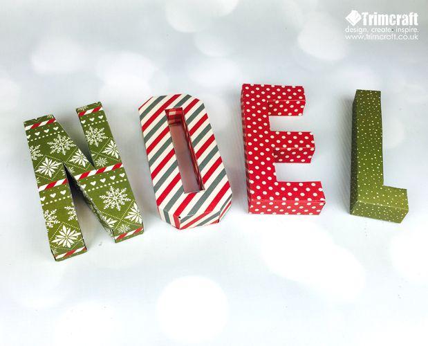 Festliche 3D druckbare Noel Briefe mit kostenlosen Vorlage   – Christmas