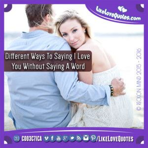 Different Ways To Saying I Love You Without Saying A Word