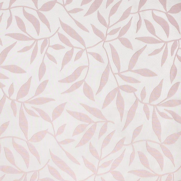 Pink Leaf Organza