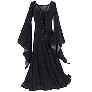 Witching Hour Dress - Gothic Renaissance Medieval Celtic Wiccan Fairy and New Age Womens Clothing Jewelry Gifts & Accessories | Pyramid Collection from pyramidcollection.com