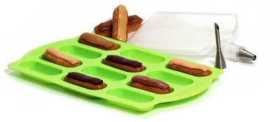 Moules individuels silicone Kit 12 Mini Eclairs silicone