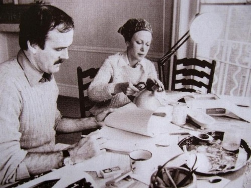 John Cleese and Connie Booth