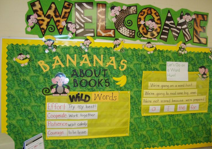 classroom bulletin board ideas | My First Grade Backpack: Monkey Bulletin Boards
