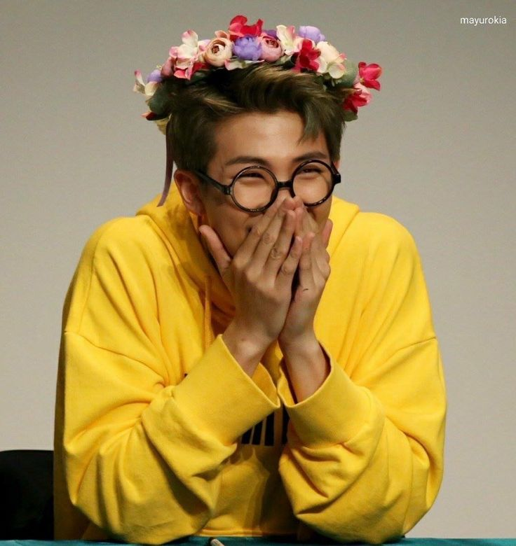 Rap Monster and his cute smile.