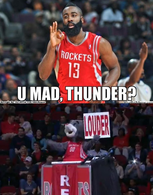 James Harden new career high score 46 points win over Thunder
