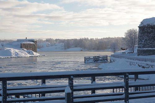 Suomenlinna Sea Fortress in winter
