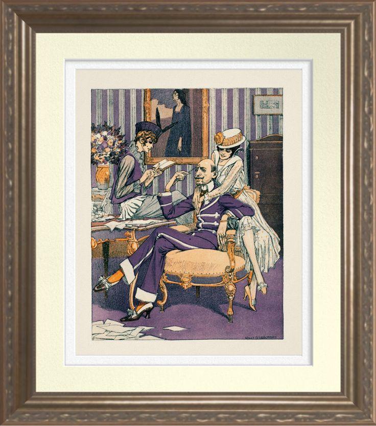 'Austrian Gentleman' - Vintage 1900's Print. Artist: Georg Willy Stieborsky. Reproduced on Archival Heavyweight Paper https://www.zazzle.com/austrian_gentleman_vintage_1900s_print-228484128906917938 #art #prints #1900s #aust