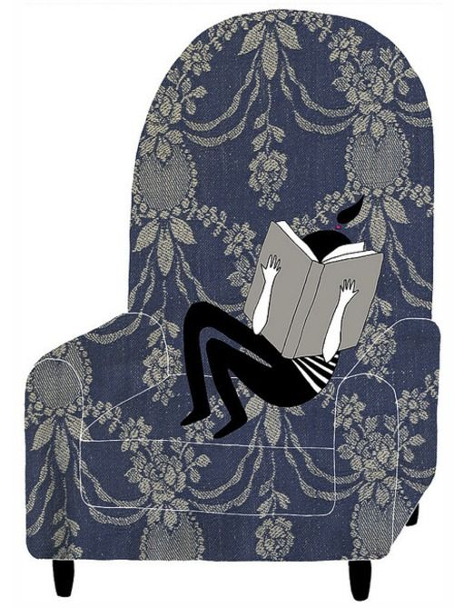 Book reading arm chair I love to curl up with a good book <3