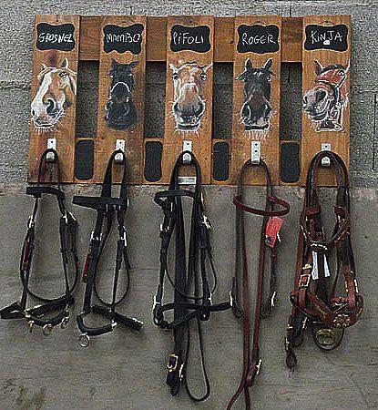DIY Bridle Rack with Horse Head HooksPat Weasner