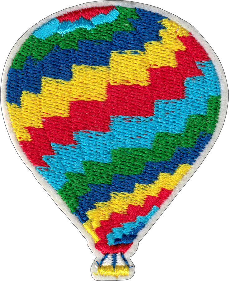 "EVERYTHING ELSE - Funny, Humor, Slogans, Weird Stuff & Misc. Random Goodness! Red, Blue, Green and Yellow Hot Air Balloon (Cut Out to the Shape of the Design) Patch (2.375"" x 2.875"") - $3.49 - 1-PTR-19635"