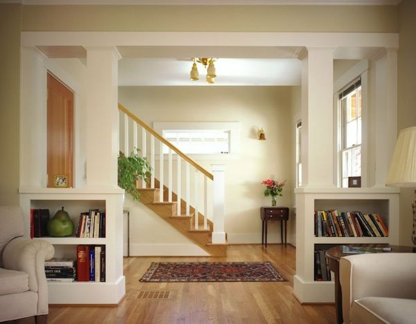 I think built-ins like this could work well to create some division in a studio apartment, without visually closing off the space...