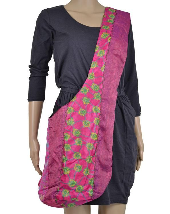 skuldertaske i genbrugt silke - miljøvenlig accessories