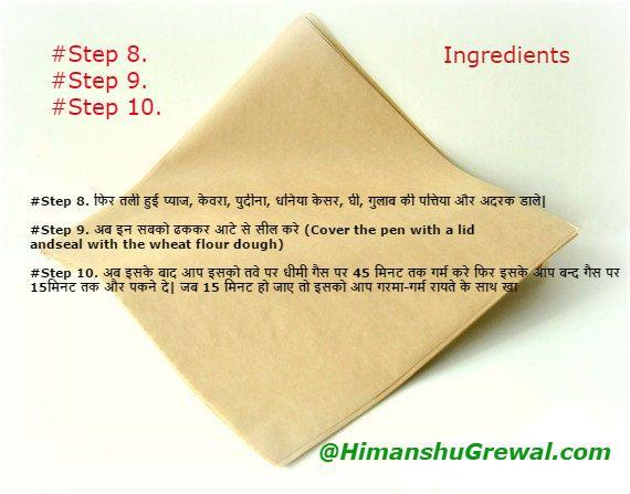 Mutton Biryani Recipe in Hindi