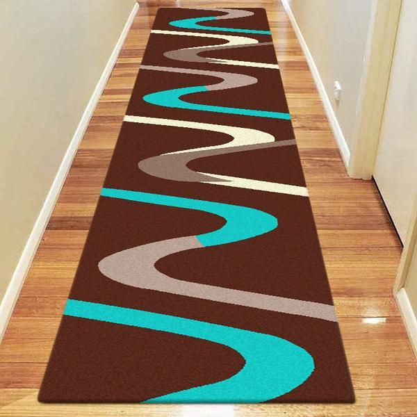 CURVED ZIG ZAG MAJESTIC CARVING RUNNER RUGS