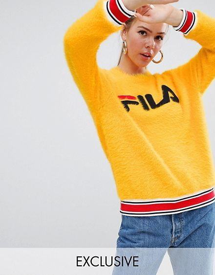 d9c457f140a786 Fila – Flauschiger Strickpullover mit sportlichem Detail am Bund und Logo  vorn | wish list in 2019 | Fila jumper, Sports, Fashion
