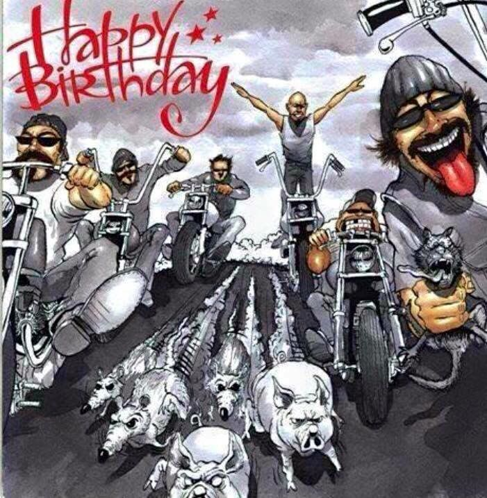 Happy birthday motorrad bilder